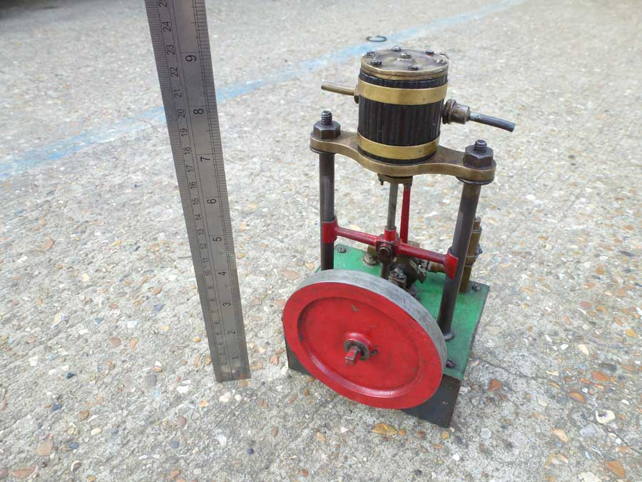 Vertical Engine with Water Pump