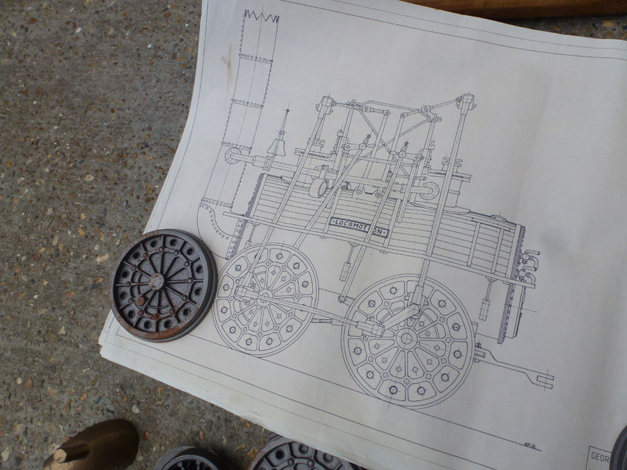 5 inch Locomotion No.1 Castings & Drawings