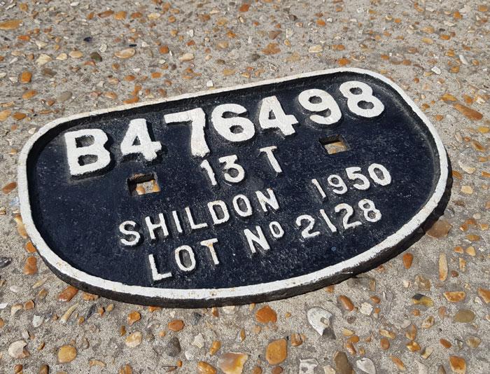 Vintage Shildon Coach Plate